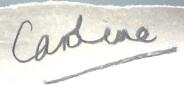 caroline name signature